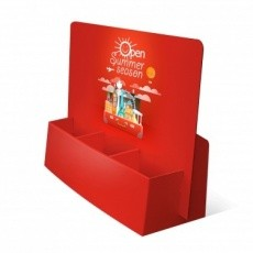 Porte flyer carton 3 cases