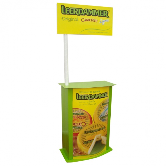 Comptoir en carton stand de d gustation jetable pour magasin for Stand de degustation