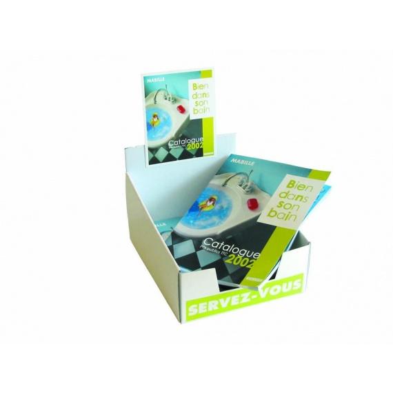 PLV carton porte catalogue
