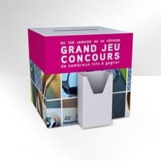 Urne carton avec porte brochure