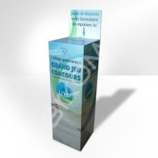 Urne carton imprimée 30 x 30 x 120 cm