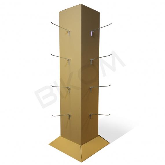Plv bikom en carton meuble porte v tement pour boutique for Meuble porte vetement