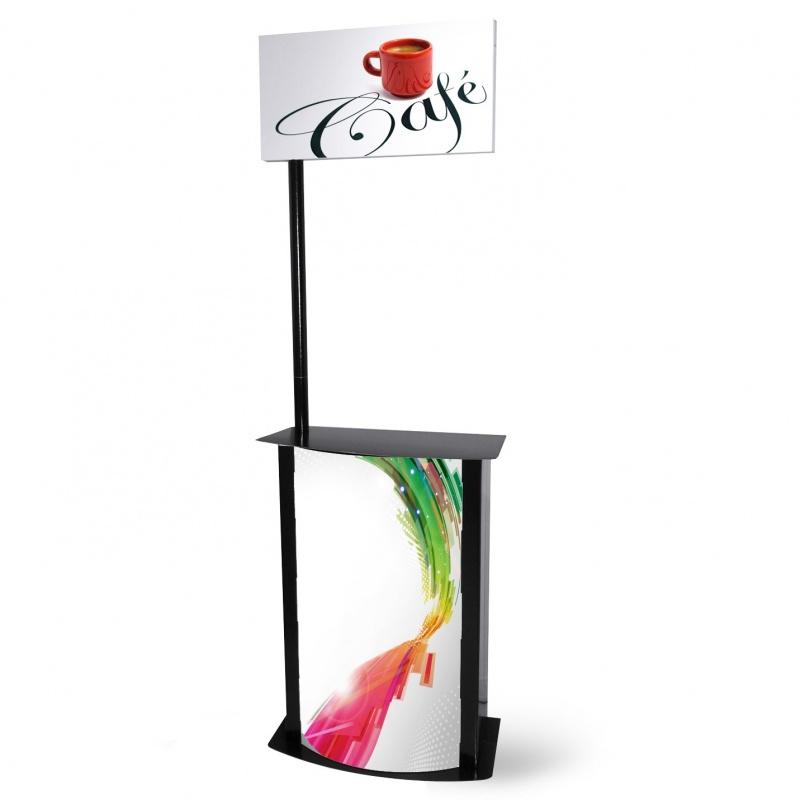 Comptoir en carton stand de d gustation jetable pour magasin for Stand comptoir