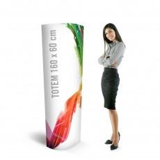 Totem elliptique carton 160 x 60 cm