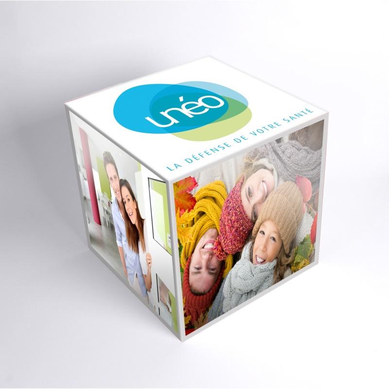 cube en carton personnalis avec une impression que 6 faces. Black Bedroom Furniture Sets. Home Design Ideas