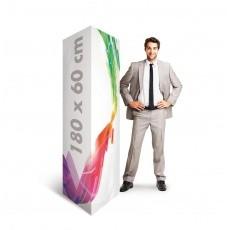 Totem carton triangle en carton 60 x 180 cm