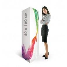 Totem carton triangle en carton 50 x 160 cm