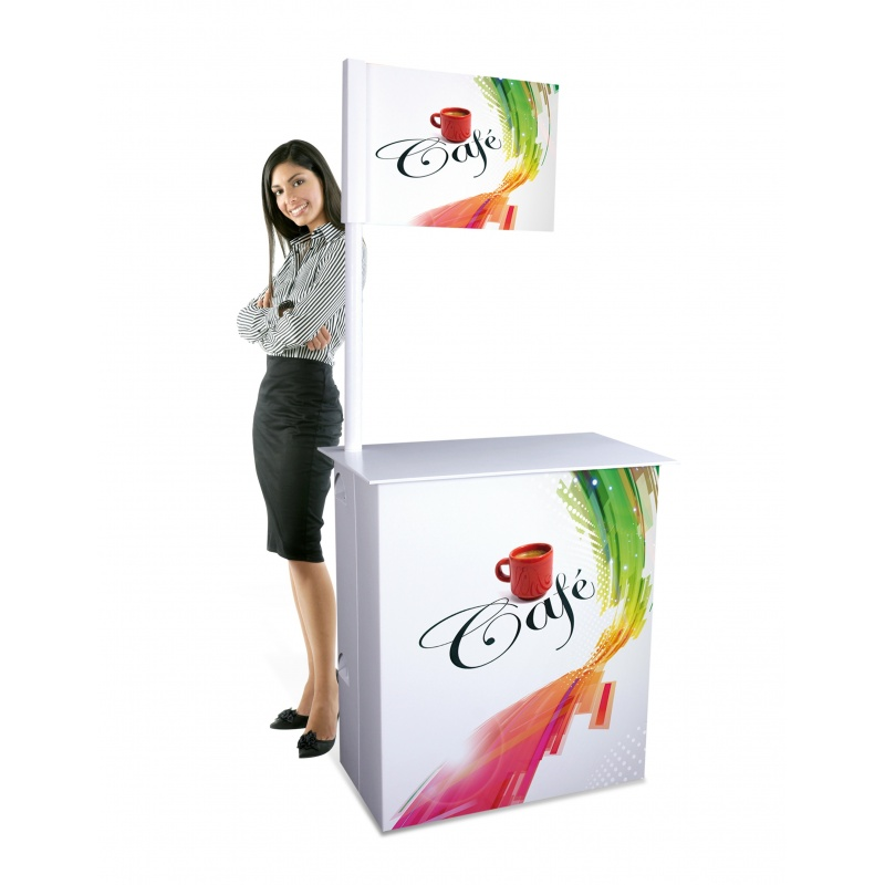Stand en carton stand d gustation l ger et facile trnporter for Stand de degustation