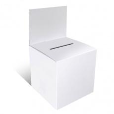 Urne en carton 15 x 15 cm blanche
