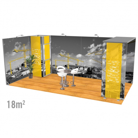 Stand 18m2 modulaire Vector