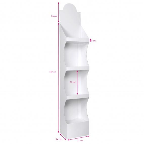 PLV étagères display Blanc 31 x 24 x 175 cm