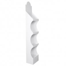PLV en carton meuble Blanc 31 x 24 x 175 cm