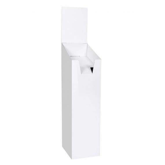 Présentoir porte brochure en carton blanc