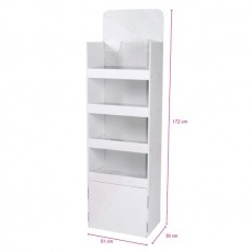 Meuble 4 étagères 51x30x172cm blanc