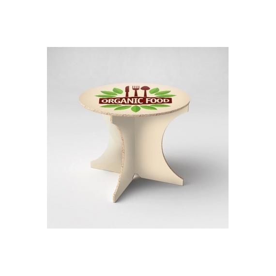 Table en carton personnalisée