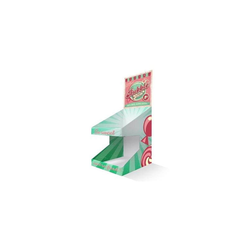 PLV de comptoir 2 niveaux BIKOM Présentoirs en carton