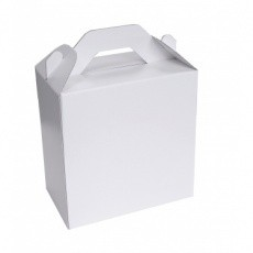 lunch box en carton blanc BIKOM Porte bouteille et lunch box