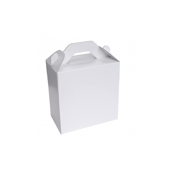 lunch box en carton blanc BIKOM Porte bouteille et lunch box