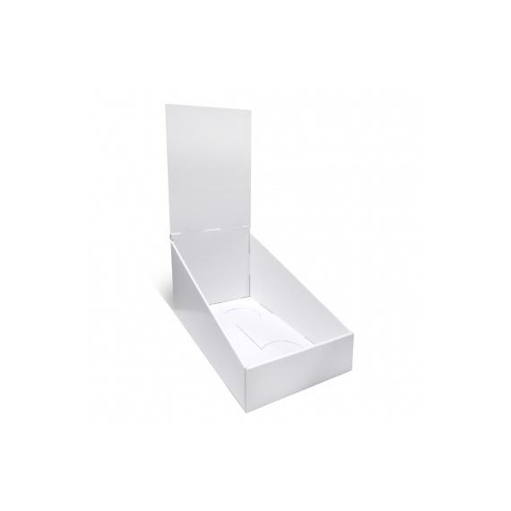 PLV de comptoir 16 x 30 cm BIKOM Présentoirs en carton blanc personnalisables
