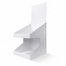 PLV de comptoir 2 niveaux blanc