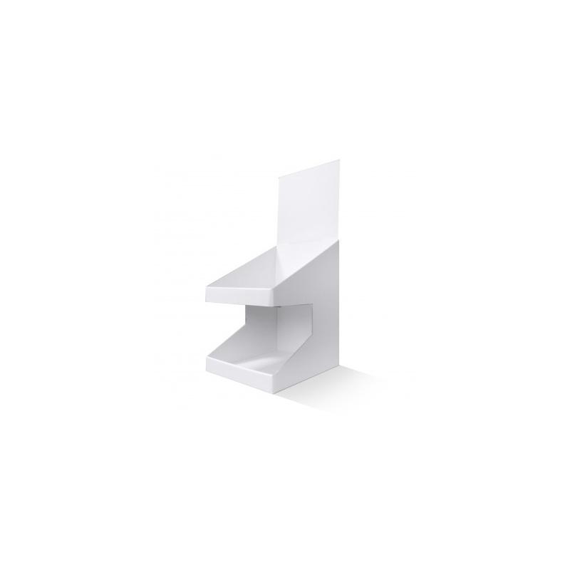 fabricant_plv_PLV de comptoir 2 niveaux blanc
