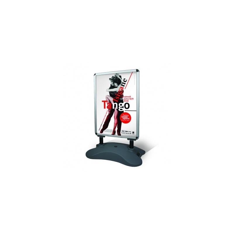 Porte affiche lesté A0 BIKOM Équipement visuel de stand