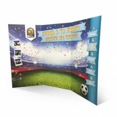 Stand parapluie carton 300 x 220 cm BIKOM Mur d'image et fond en carton