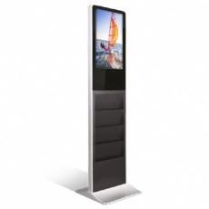 """Totem vidéo 22"""" vertical porte brochure BIKOM Totem vidéo"""