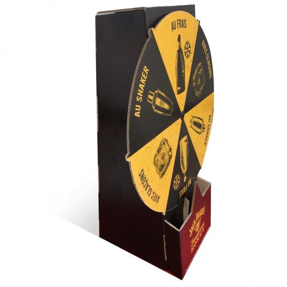 Mini roue de la fortuen en carton