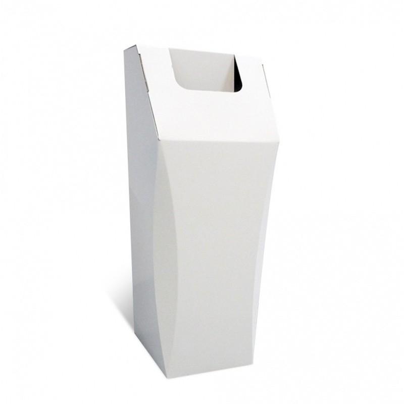 Poubelle en carton, 50L, personnalisable, ouverture large BIKOM Poubelle et corbeille en carton