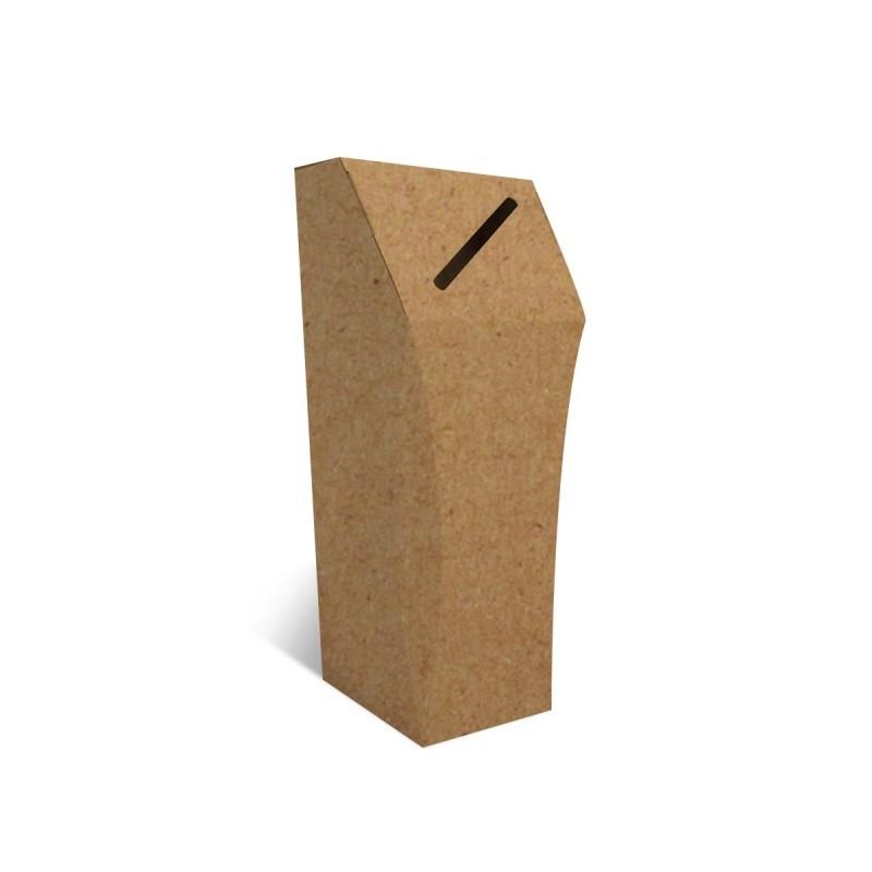 Poubelle en carton recyclé, 50L, personnalisable, ouverture étroite BIKOM Accueil