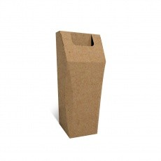Poubelle en carton recyclé, 50L, personnalisable, ouverture large