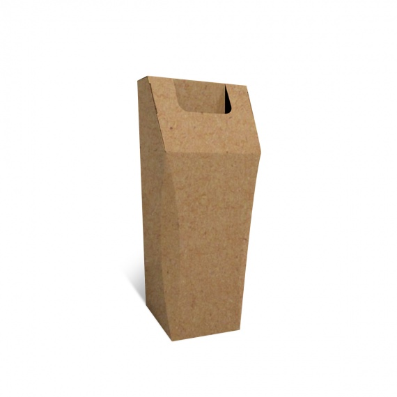 Poubelle en carton recyclé, 50L, personnalisable, ouverture large BIKOM Poubelle et corbeille en carton