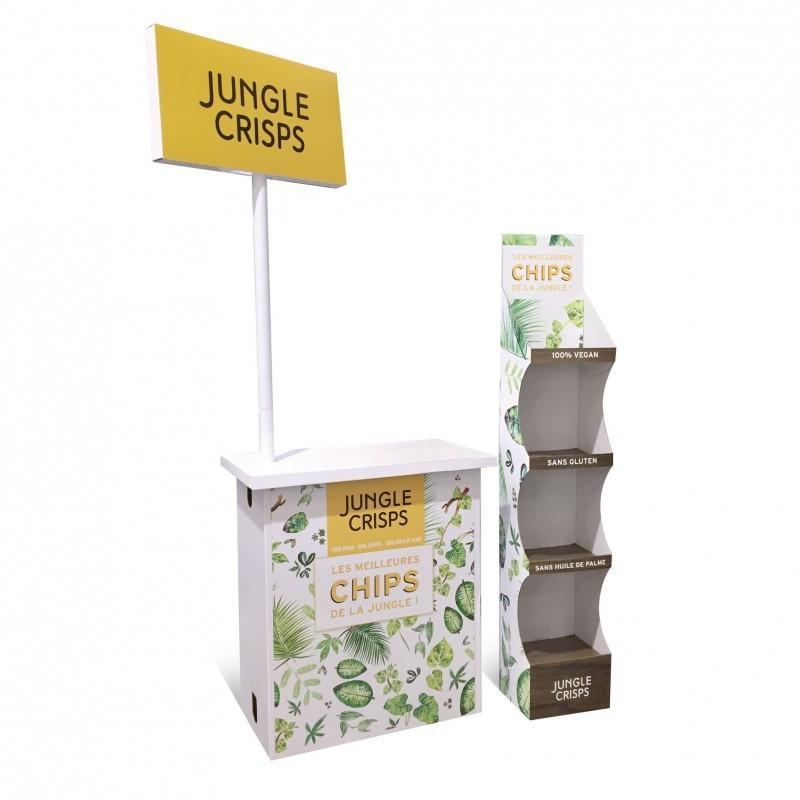 BIKOM Kit comptoir en carton + plv de sol