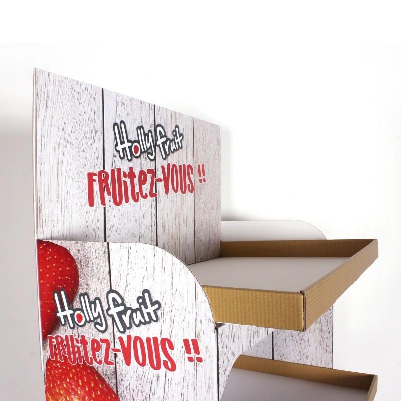 Display en carton 5 étagères BIKOM Accueil