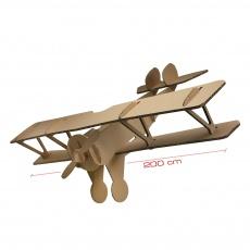 Avion en carton géant