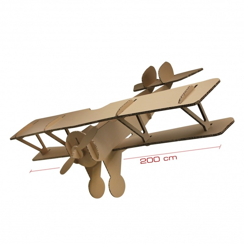 Avion en carton géant BIKOM Meuble en carton