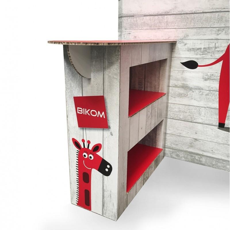 BIKOM Stand en carton recyclé