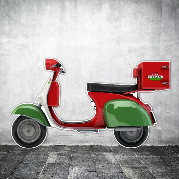 Silhouette de scooter pour décoration