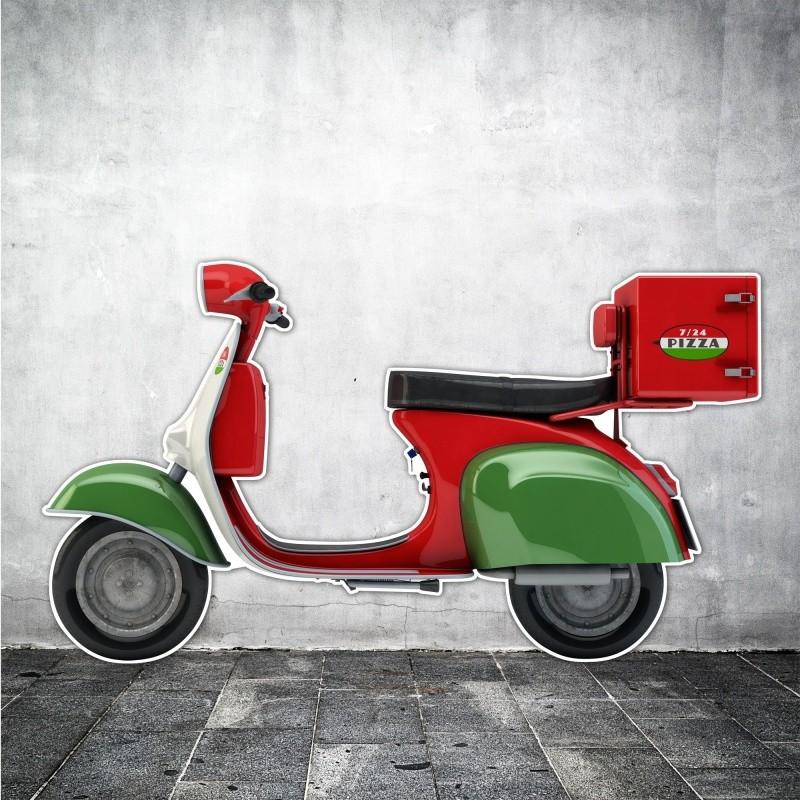 Silhouette de scooter pour décoration BIKOM Décorations en carton