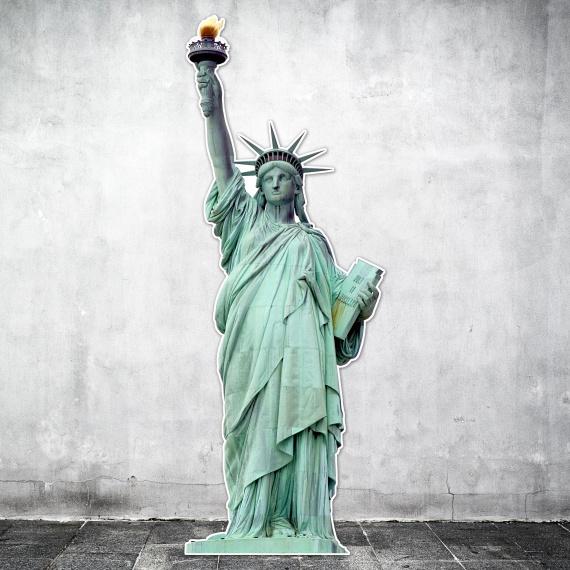 Statue de la libertée en silhouette