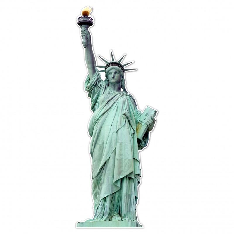 Statue de la libertée en silhouette BIKOM Décorations en carton