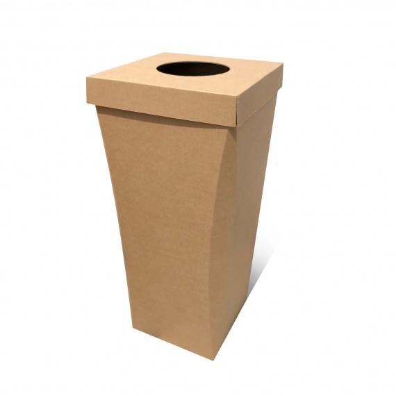 Poubelle en carton recyclé 100L, personnalisable BIKOM Poubelle et corbeille en carton