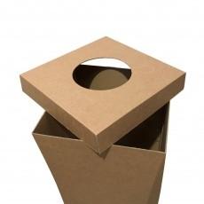 Poubelle en carton recyclé 100L, personnalisable