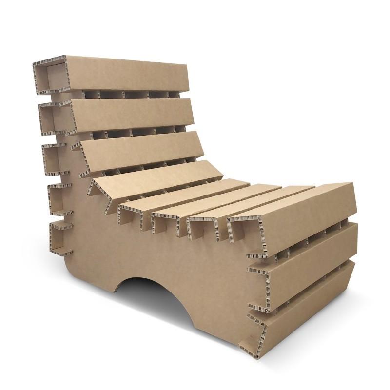 mobilier-en-carton-Fauteuil en carton design et original