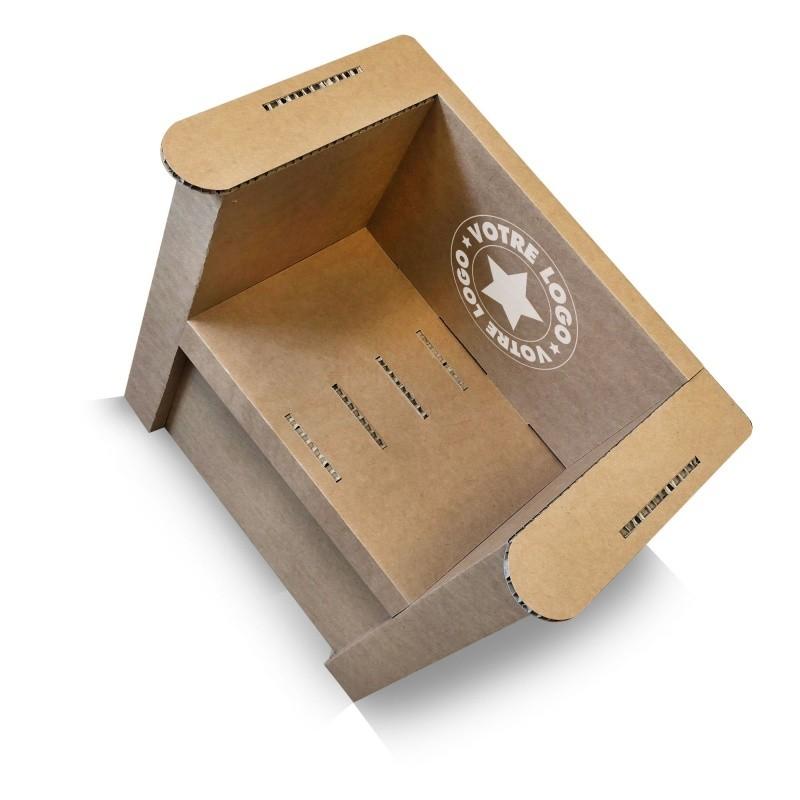 mobilier-en-carton-Fauteuil en carton naturel personnalisable