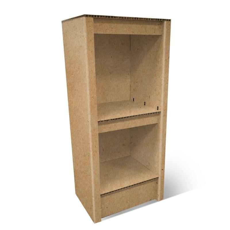 fabricant_plv_Demi colonne en carton étagère