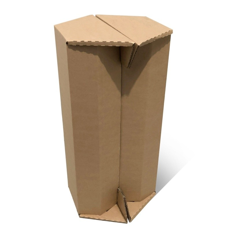 Tabouret haut en carton naturel BIKOM Meuble en carton