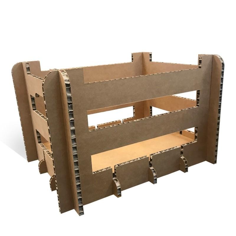 Cagette en Carton Alvéolaire BIKOM Décorations en carton