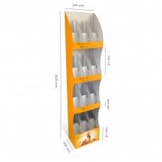 PLV Colonne arrondie 4 étagères